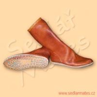 Polovysoké ručně šité boty (model č. 9008)