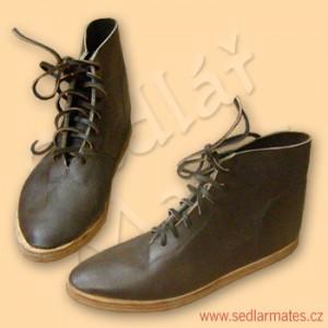 Gotické kožené boty (model č. 9013)