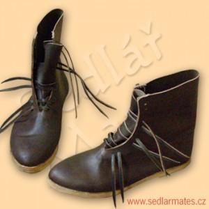 Ručně šité boty polovysoké (model č. 9014)