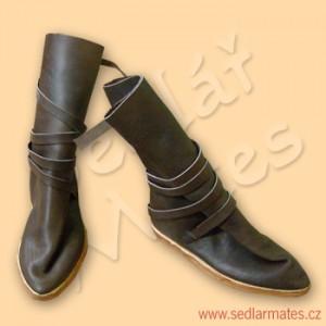 Gotické polovysoké boty (model č. 9021)