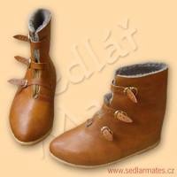 Ručně šité boty s podšívkou (model č. 9023)