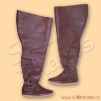 Gotické jezdecké boty (model č. 9026)