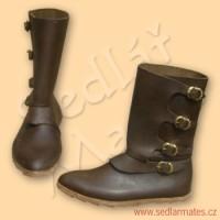 Polovysoké ručně šité boty (model č. 9032)