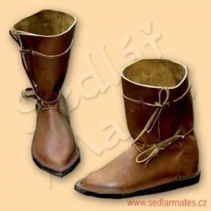 Gotické polovysoké boty (model č. 1004)