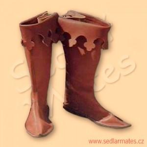 Gotické vysoké boty (model č. 1020)