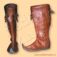 Gotické vysoké boty (model č. 1028)