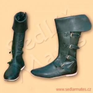 Vysoké gotické cvikané boty (model č. 1032)