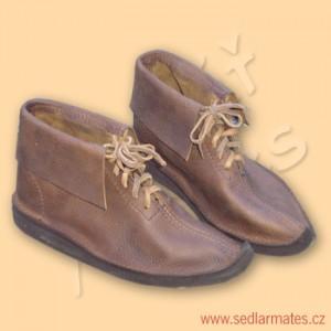 Gotické kotníkové boty (model č. 1043)