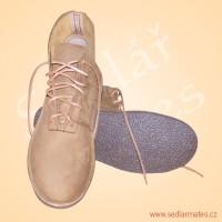 Kotníkové kožené boty (model č. 4041)