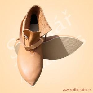 Gotické nízké boty (model č. 1007)