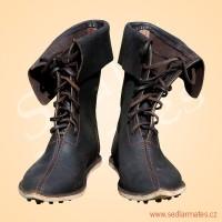 Gotické polovysoké boty (model č. 1113)