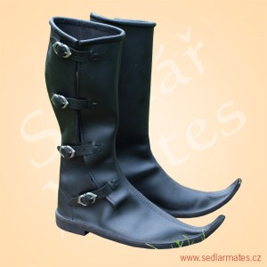 Gotické vysoké boty (model č. 1114)