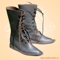 Gotické polovysoké boty (model č. 1118)