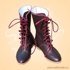Polovysoké boty na šněrování (model č. 4004)