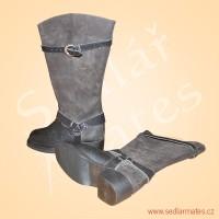 Vysoké motorkářské boty (model č. 4028)