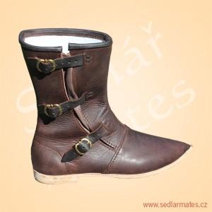Gotické polovysoké boty (model č. 1048)