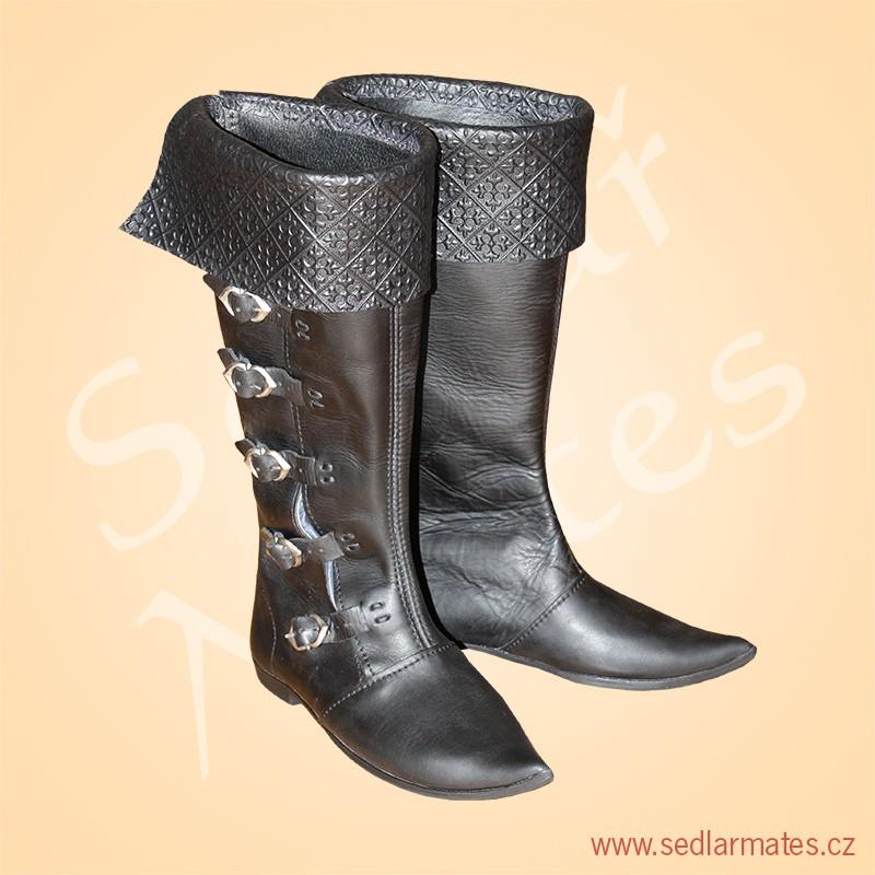 1096)  Gotické vysoké boty s manžetou (model č. 9b4a67eec8