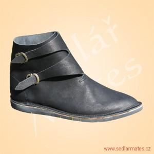 Kotníkové boty na přezky (model č. 1132)