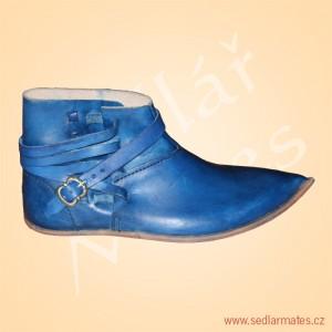 Kotníkové boty na přezku (model č. 1136)