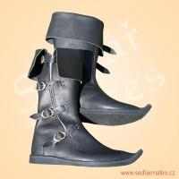 Polovysoké boty na přezky (model č. 1142)