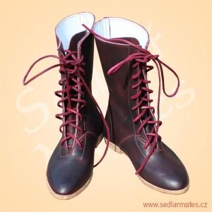 Polovysoké gotické bot na šněrování (model č. 1144)