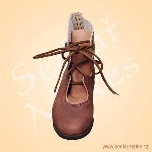 Kotníkové boty s všitým jazykem (model č. 0027)