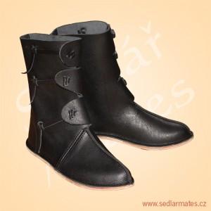 Polovysoké boty s nártovým švem (model č. 0030)
