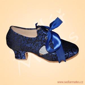 Taneční brokátové střevíce (model č. 3064)