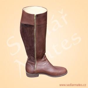 Jezdecké celokožené boty (model č. 4051)