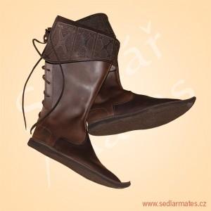 Gotické vysoké boty šlechtické (model č. 1027)