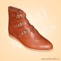 Gotické kotníkové boty na přezky (model č. 1082)