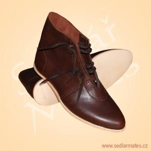 Kotníkové boty na dvojřemínky (model č. 1157)