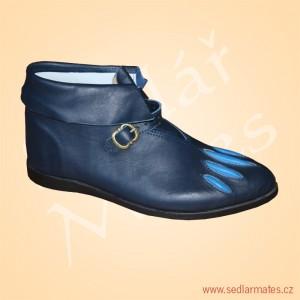 Kotníkové renesanční boty (model č. 2047)