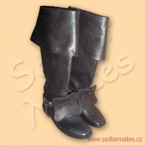 Barokní jezdecké boty s mírně zakulacenou špičkou (model č. 3016)