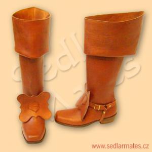 Jezdecké barokní boty (model č. 3023)