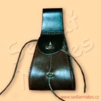Malá kožená taštice na opasek (model č. 5012)