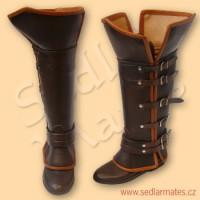 """Kožené boty """"Assassin"""" (model č. 6008)"""