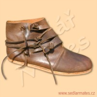 Ručně šité, převracené boty Viking (model č. 9012)