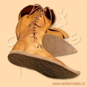 Gotické vysoké boty se šněrováním z boku (model č. 1098)