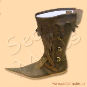 Gotické vysoké boty s dlouhou špicí (model č. 1099)