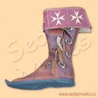 Gotické vysoké boty s bohatě zdobenou manžetou (model č. 1102)
