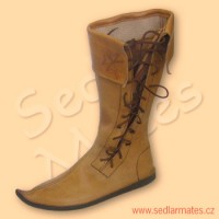 Gotické vysoké boty s manžetou (model č. 1093)