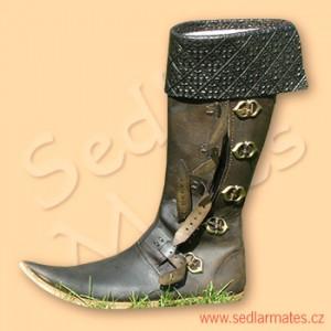 Gotické vysoké boty s manžetou (model č. 1096)